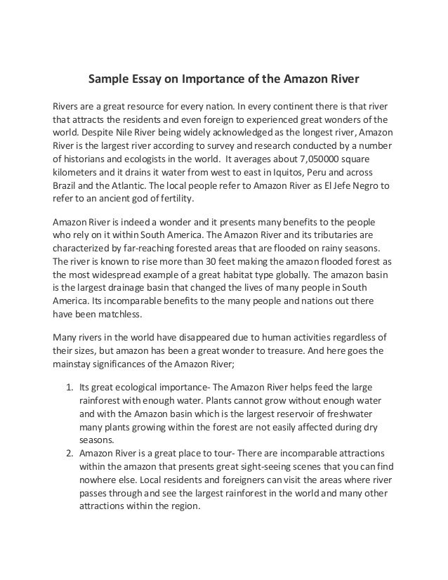 Essay on importance of water