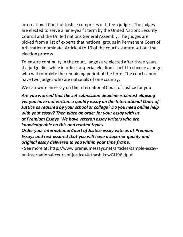 sample essay on international court of justice 2 international court of justice