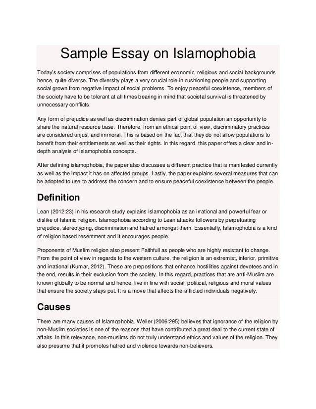islamophobia short essay