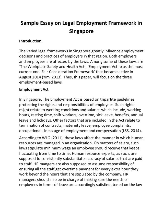 Essays on discrimination in singapore