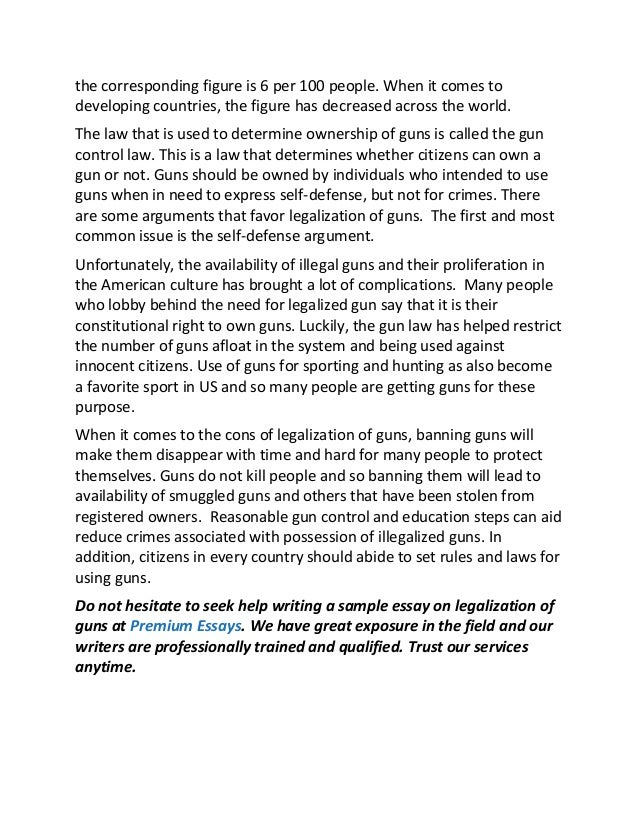 sample essay on legalization of guns in the united kingdom 2 the