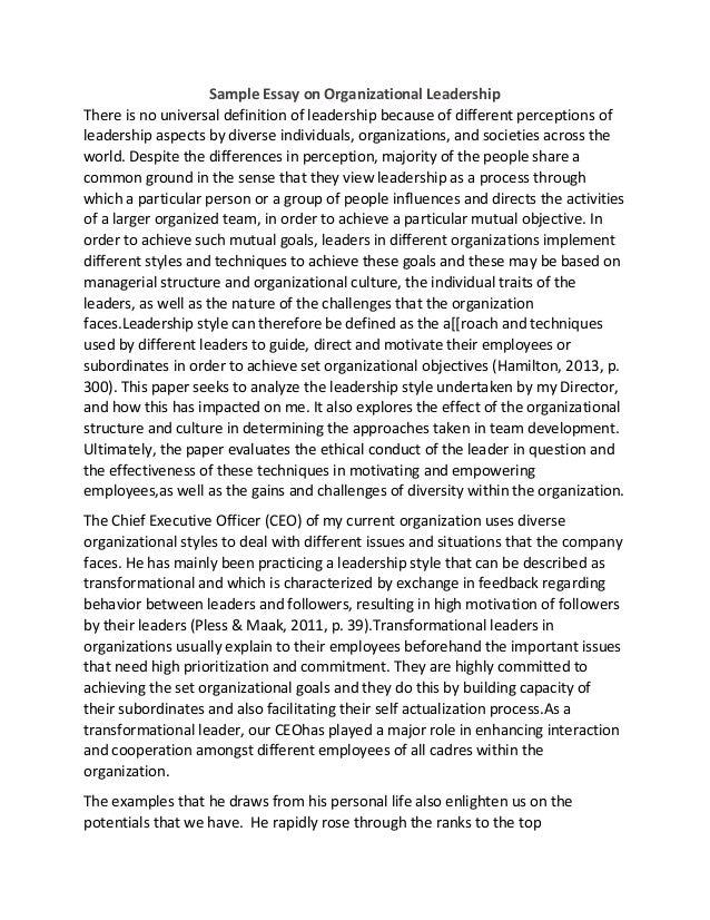 Custom admission essay leadership