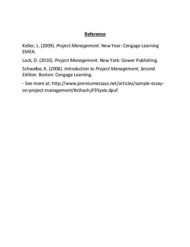 Project Management Essay