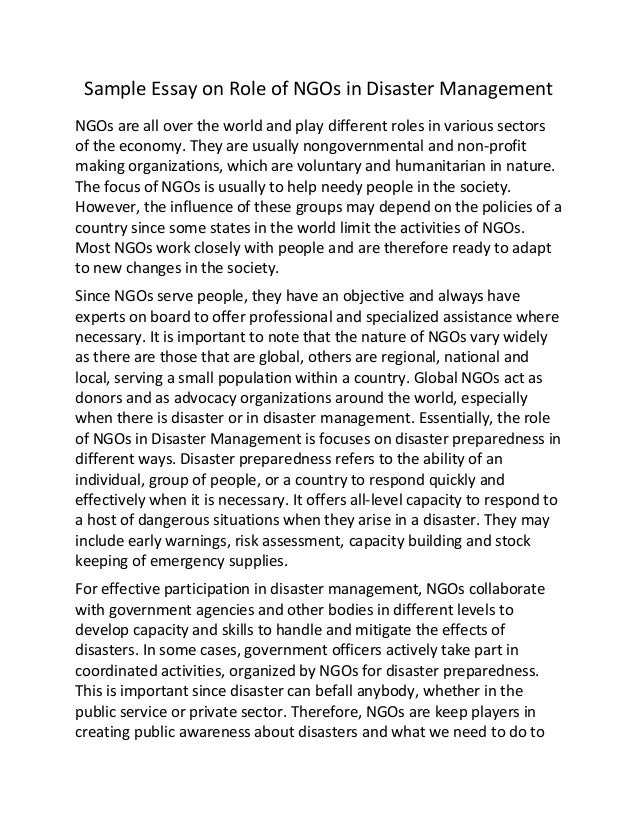role of ngo s in natural calamities Role of ngos in disaster management (draft) february 2015 national disaster managemnt authority  32 role of ngos in disaster mitigation  recent trends with respect to management of natural disasters have highlighted the role of non-governmental organisations (ngos) as.