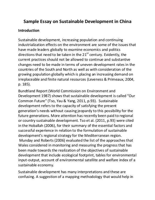 scope of sustainable development