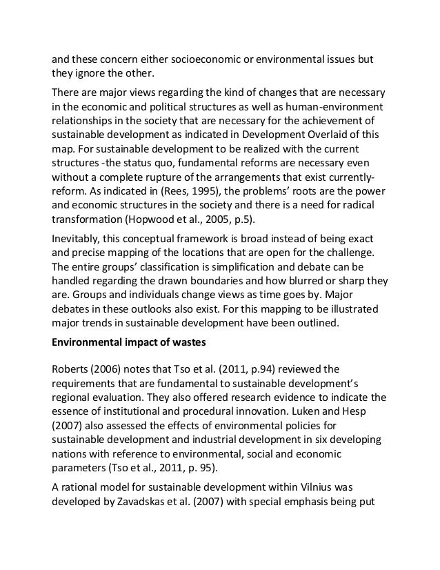 sample essay on sustainable development in   3 and