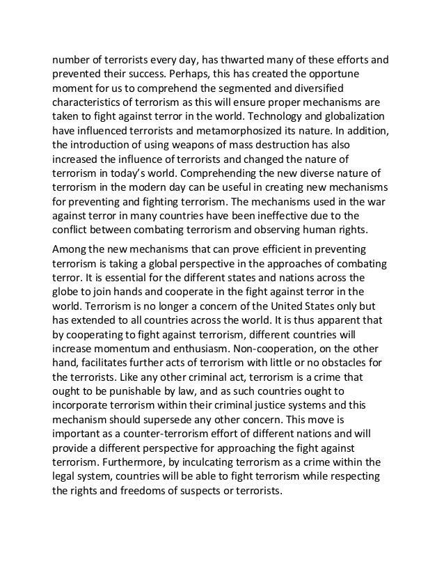 Terrorism essay topics