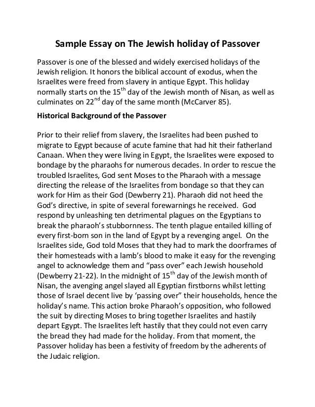 Jewish essay