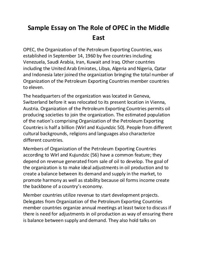 the middle east essay