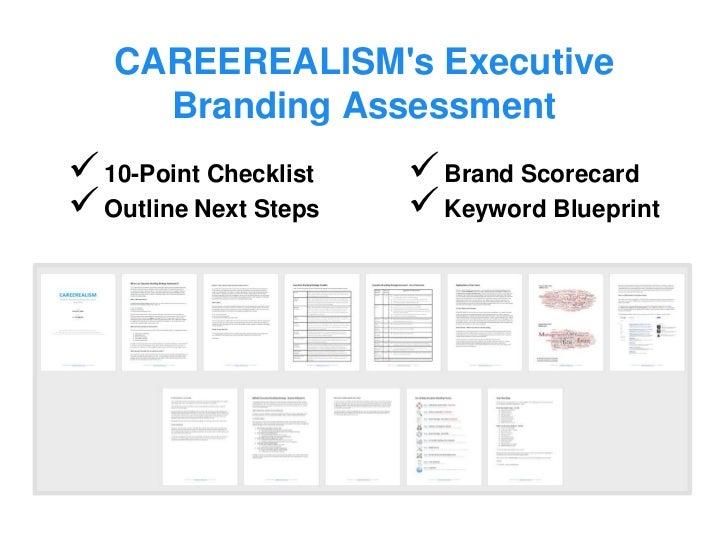 sample executive branding assessment