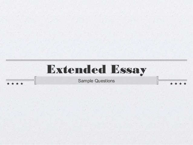 Extended Essay Examples of Topics