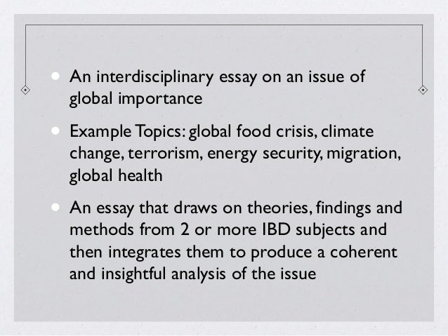 sample extended essay questions world studies sample questions 38 • an interdisciplinary essay