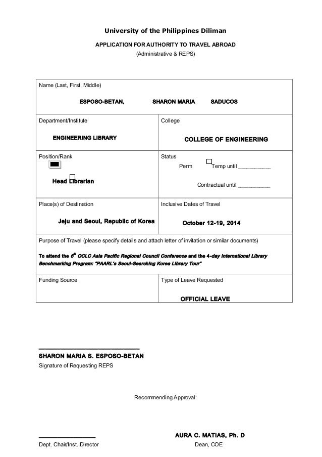 Travel Document Canada Form
