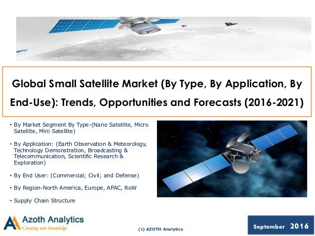 (c) AZOTH Analytics September 2016 Global Small Satellite Market (By Type, By Application, By End-Use): Trends, Opportunit...