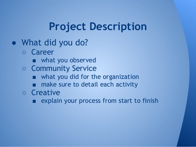 community service projects essays
