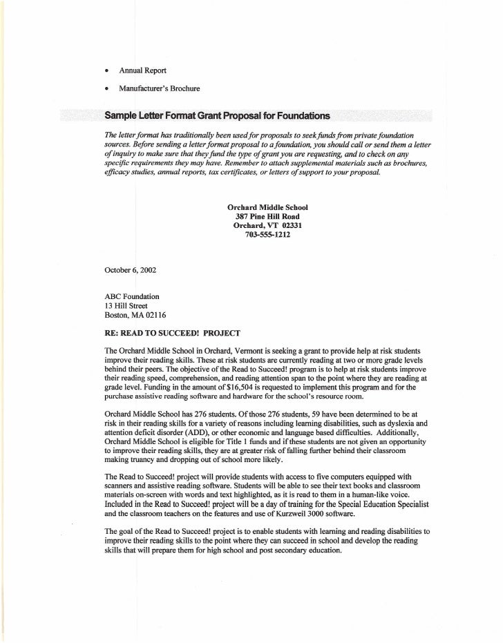 Letter Of Inquiry Sample For Grant Proposal Ibovnathandedecker
