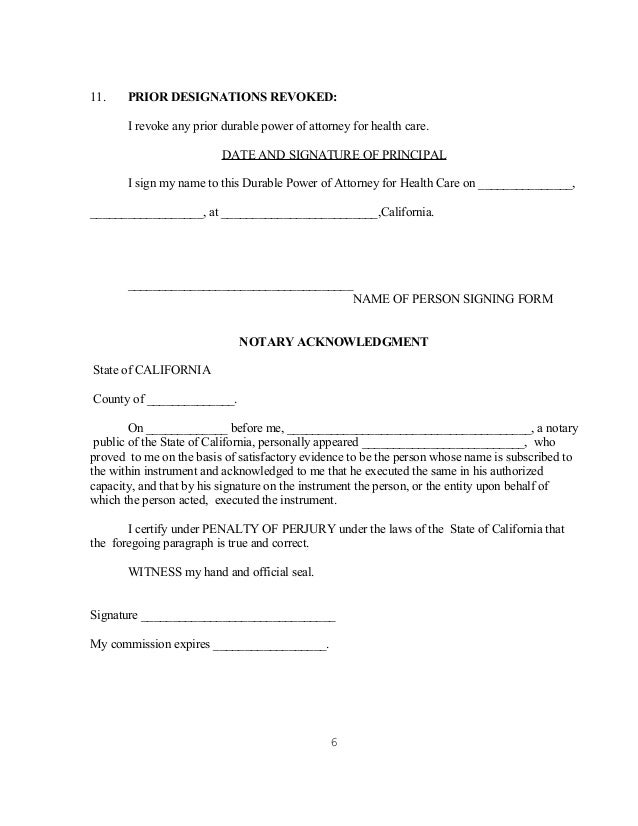 Doc437580 Health Care Power of Attorney Form Free Medical – Health Care Power of Attorney Form
