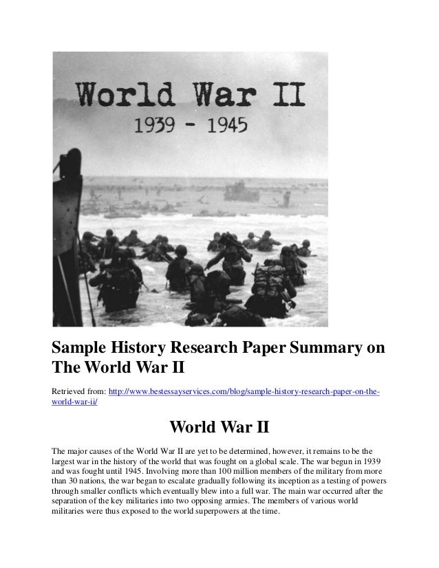 Significance of World War 2 Essay - Words