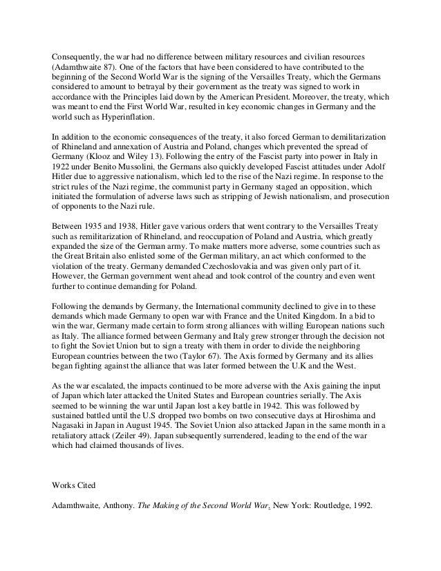 world war 2 essay titles