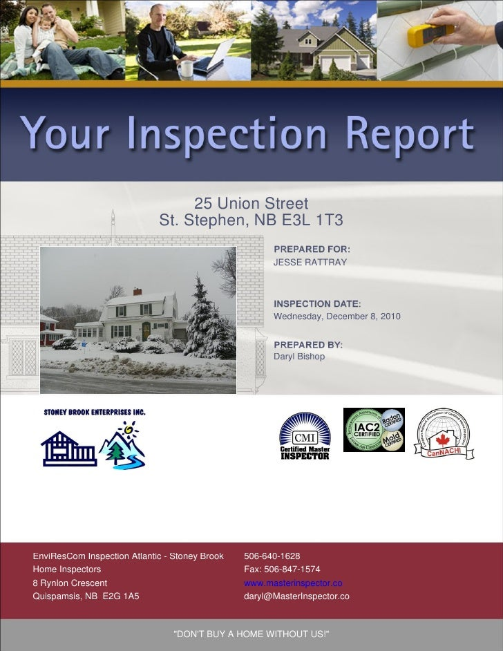 how to write a home inspection report