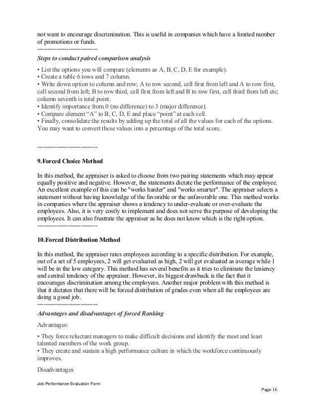 Sample Intern Performance Appraisal