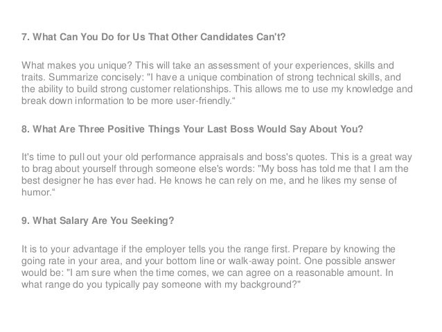Sample interview questions and answers for project officer