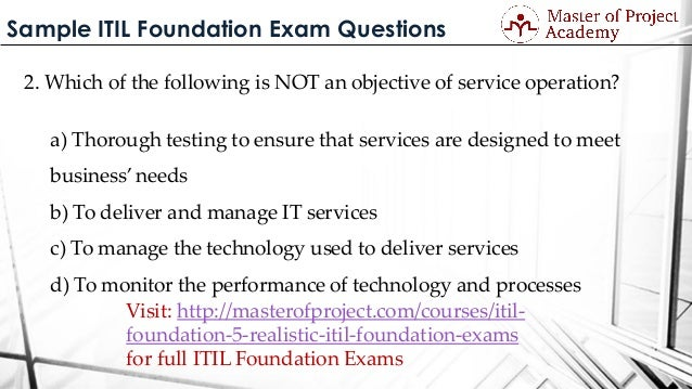 Itil mock exams itil certification training online study material.