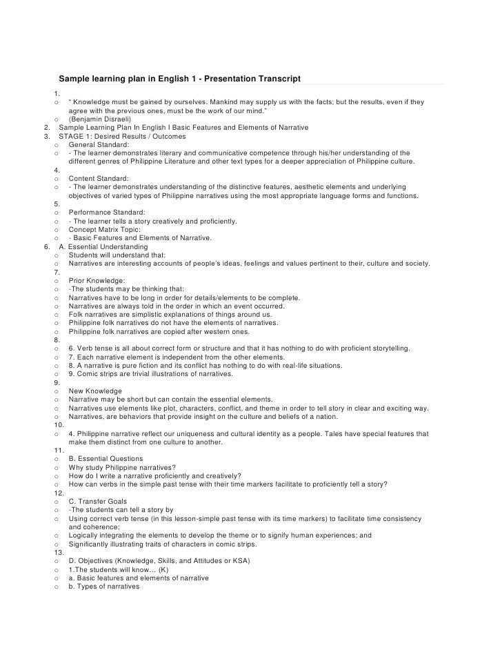 """Sample learning plan in English 1 - Presentation Transcript<br />"""" Knowledge must be gained by ourselves. Mankind may supp..."""
