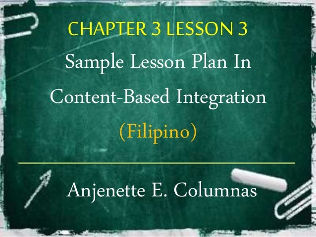 Content Based lesson Plan in Filipino