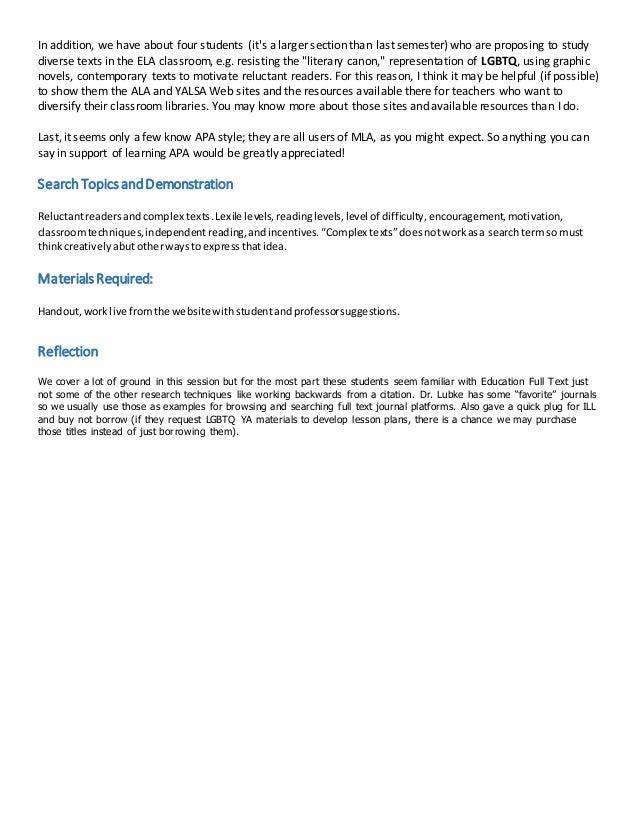 Sample Library Instruction Lesson Plan Slide 2