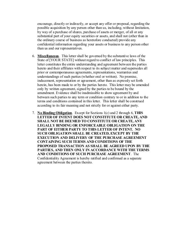 3 - Letter Of Intent For Employment Template