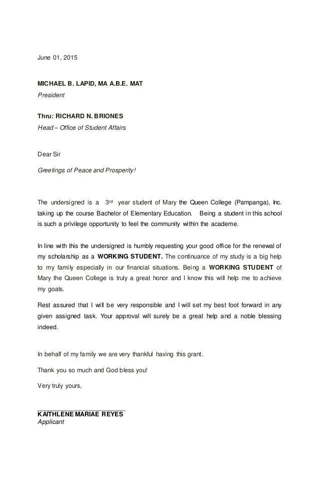 Personal Statement and Letter of Application for a Deputy Head teacher