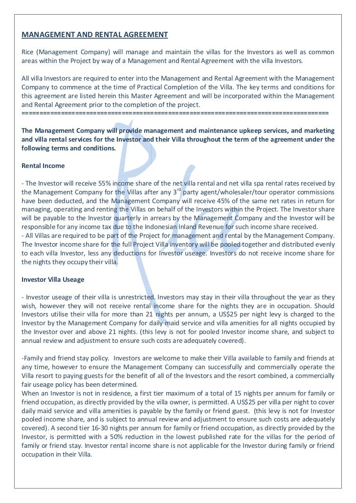 Management Services Agreement Sample Vaydileforic
