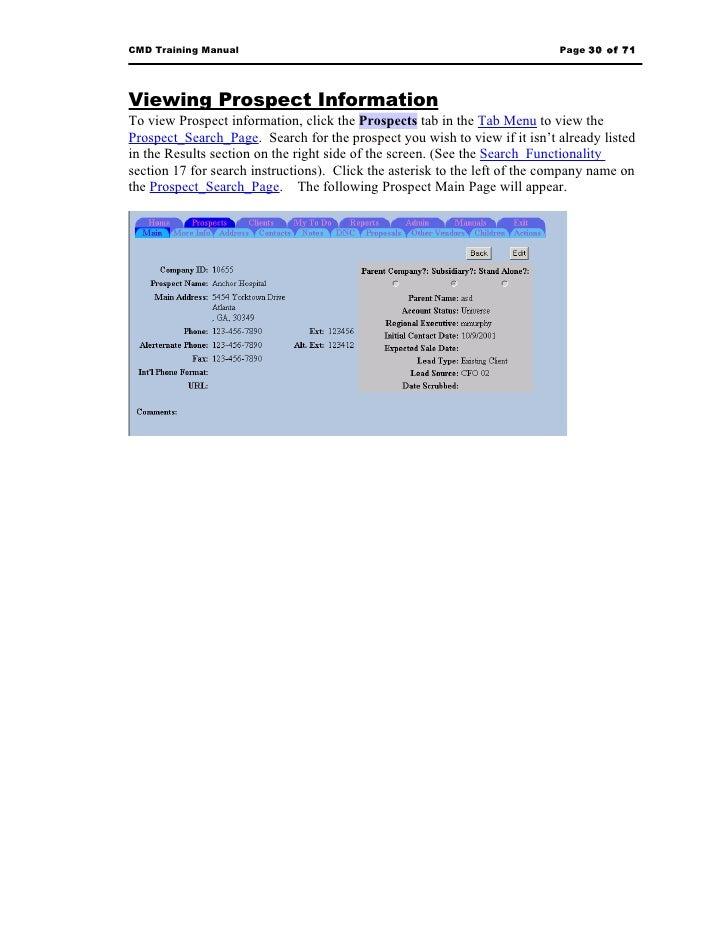 Sample training manual – Sample Training Manual