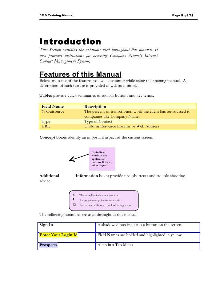 sample training manual rh slideshare net restaurant training manual examples training manual examples for word