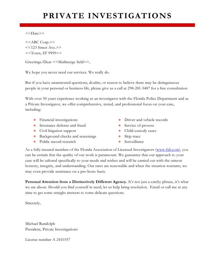Sample marketing letter for Insurance marketing letters