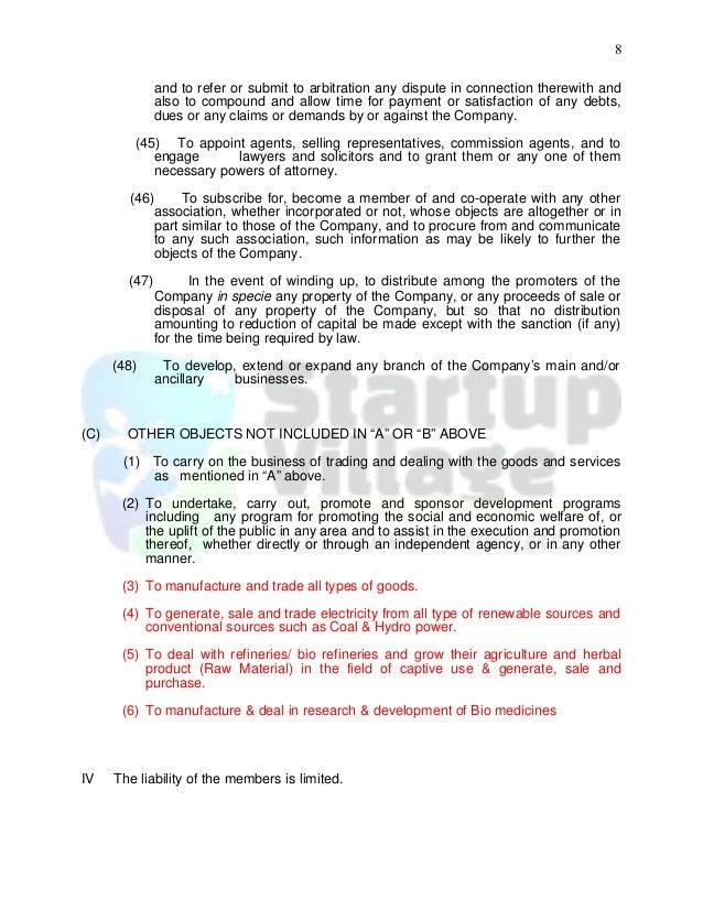 sample of company memorandum