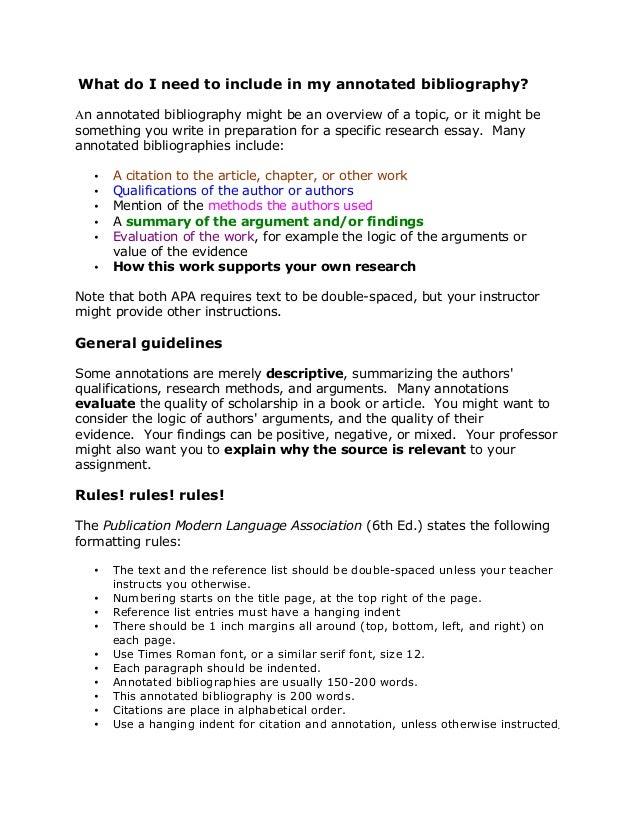 annotated bibliography csun