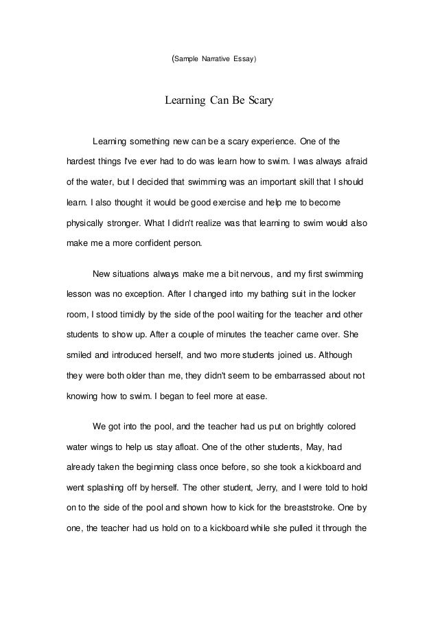 sample narrative essay - Personal Narrative Essay Examples High School