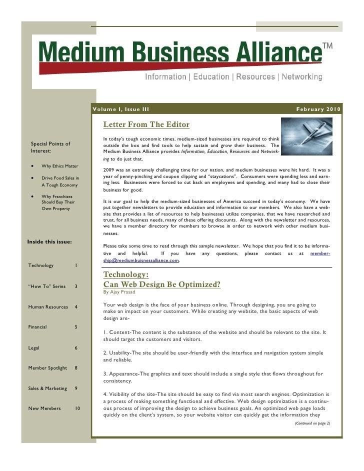 Volume I, Issue III                                                                         February 2010                 ...