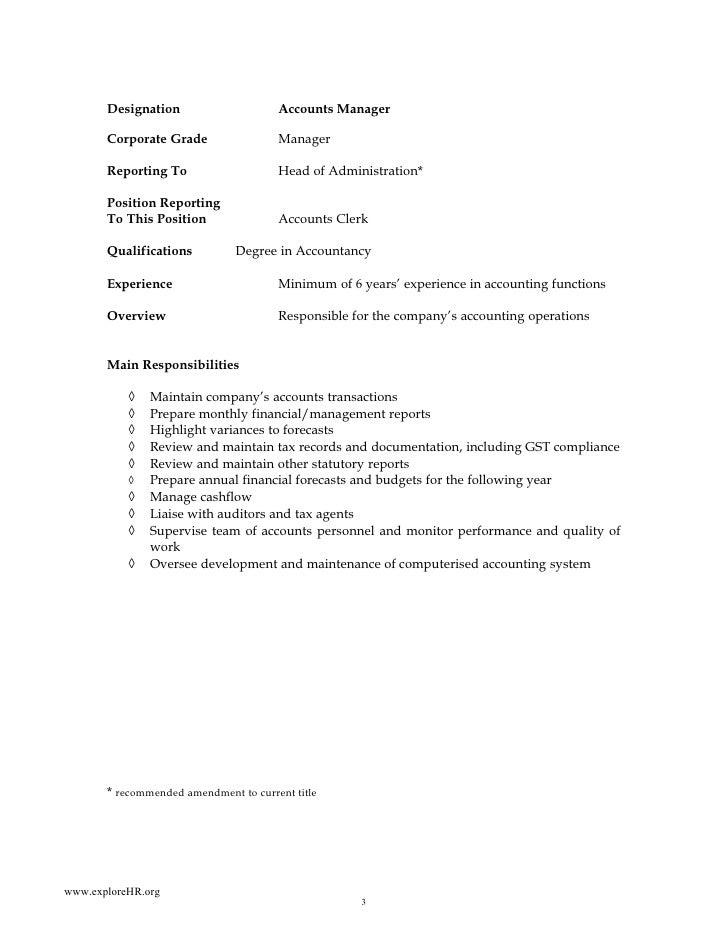 Sample of job descriptions a - Corporate compliance officer job description ...