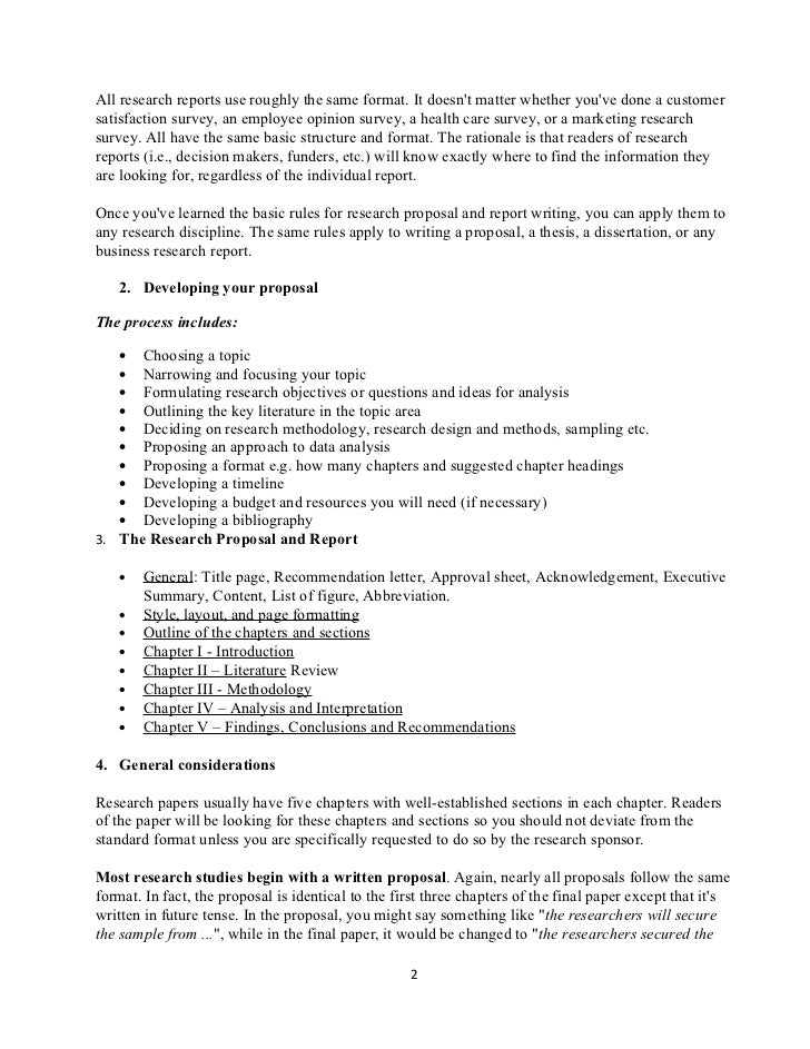 detailed outline of research proposal - Proposal Outline