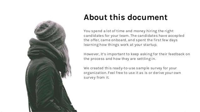 Sample Onboarding Survey - Startup Slide 2