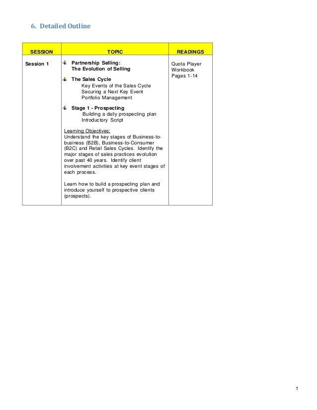 Sample Sales Effectiveness Program