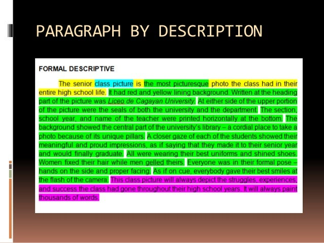 Sample Paragraphs And Essay Methods Of Paragraph