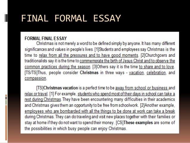 examples of a formal essay co examples