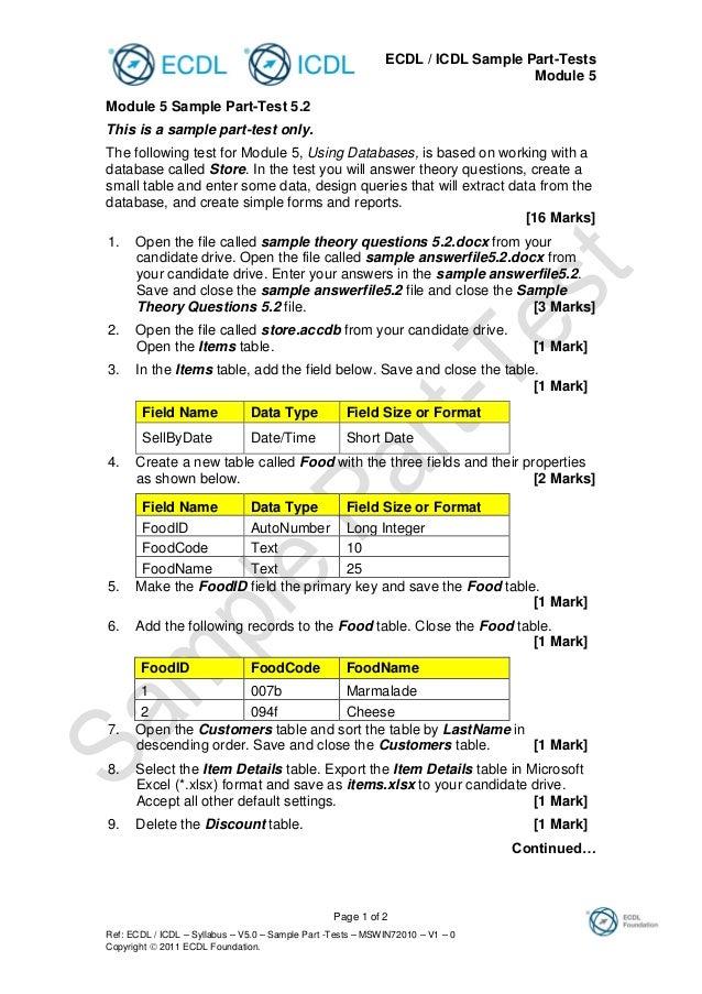Sample part tests mswin72010 v1 0.
