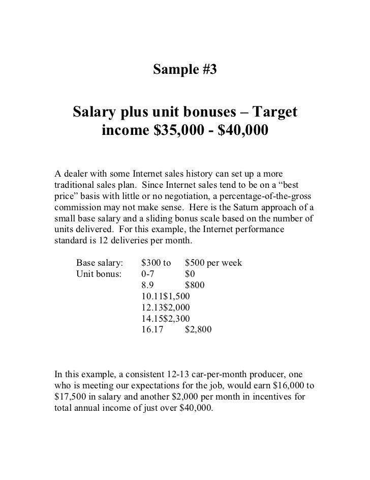 Sample pay plans for Salary history template hourly