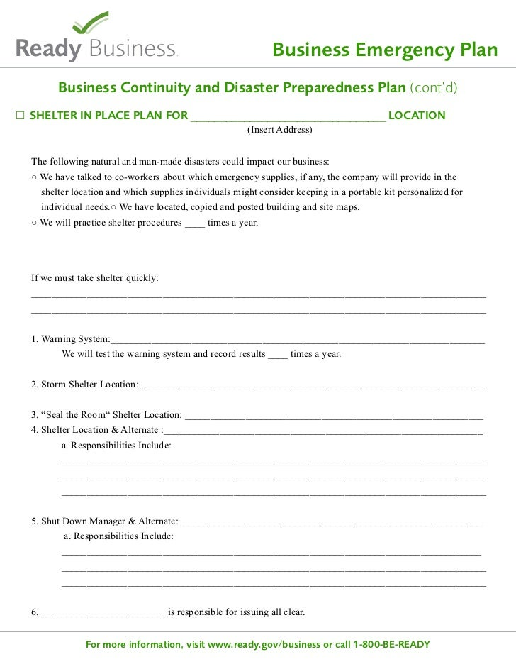 Ready sample disaster planning template business emergency plan wajeb Choice Image