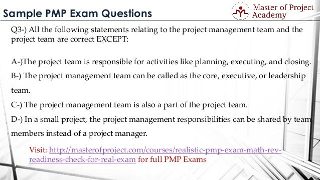 PMP Free Practice Test Sample Questions for PMP 6th Edition - CertBlaster